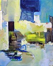 Via Positano by Anne B Schwartz (Oil Painting)