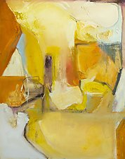 Wondering in Positano by Anne B Schwartz (Oil Painting)