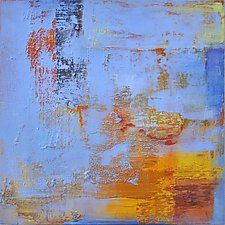 Sea in Sorrento by Anne B Schwartz (Acrylic Painting)