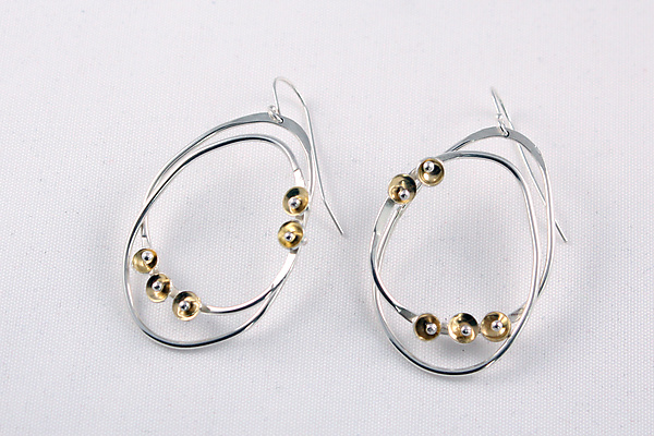 Silver and Gold Aldus Earrings