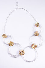 Scribble Hedera Necklace by Stephanie O'Brien (Silver & Brass Necklace)