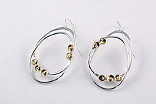Silver and Gold Aldus Earrings by Stephanie O'Brien (Gold & SIlver Earrings)