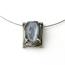 Framed Geode Necklace by Jackie Jordan (Silver & Stone Necklace)