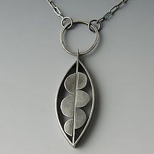 Artful Leaf Necklace by Jackie Jordan (Silver Necklace)