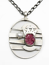 Cabalto Queen Necklace by Jackie Jordan (Silver & Stone Necklace)