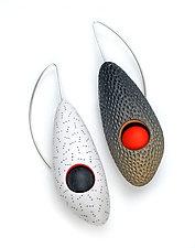 Promise Earrings by Jeffrey Lloyd Dever (Silver & Polymer Earrings)