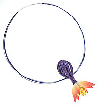 Evening Repose Necklace by Jeffrey Lloyd Dever (Silver & Polymer Necklace)