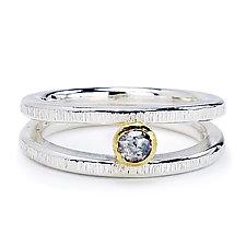Rose Cut Diamond Silver Ring by Jamie Santellano (Gold, Silver & Stone Ring)