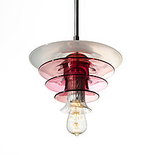 Large Flower Pendant by Tracy Glover (Art Glass Pendant Lamp)