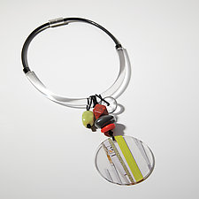 Confetti Caper Necklace by Phyllis Clark (Paper & Acrylic Necklace)