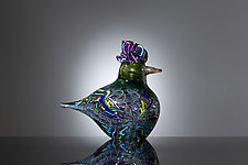 Warbler II by Martin Ehrensvard (Art Glass Sculpture)