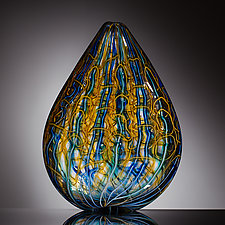 Leaf by Martin Ehrensvard (Art Glass Sculpture)