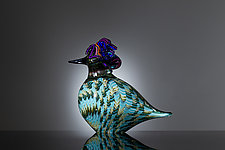 Bluebird by Martin Ehrensvard (Art Glass Sculpture)