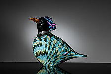Thrush by Martin Ehrensvard (Art Glass Sculpture)