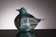 Warbler by Martin Ehrensvard (Art Glass Sculpture)