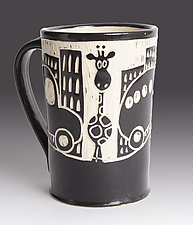 Giraffe in the City Mug by Jennifer  Falter (Ceramic Mug)