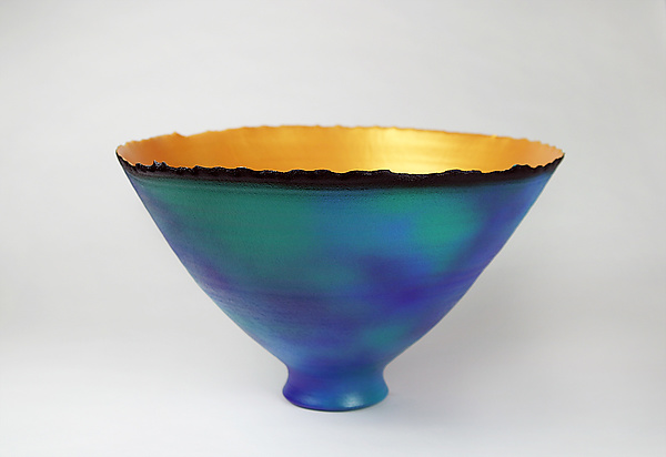 Blue-Green and Gold Prosperity Bowl