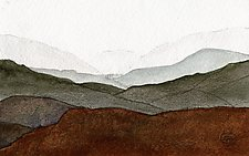 Mountain Landscape by Chris Malcomson (Watercolor Painting)