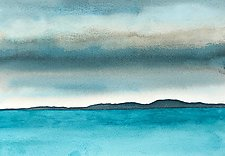 Sea Study II by Chris Malcomson (Watercolor Painting)