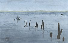 Immigration Pier No. 1 by Chris Malcomson (Watercolor Painting)