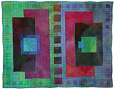 Colorfields: Beryl by Michele Hardy (Fiber Wall Hanging)