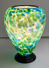 Blown Glass Lamp IX by Curt Brock (Art Glass Table Lamp)