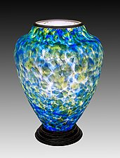 Blown Glass Lamp I by Curt Brock (Art Glass Table Lamp)