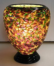 Blown Glass Lamp XI by Curt Brock (Art Glass Table Lamp)