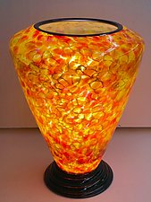 Blown Glass Lamp V by Curt Brock (Art Glass Table Lamp)