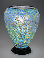Sea Glass Lamp by Curt Brock (Art Glass Table Lamp)