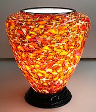 Blown Glass Lamp VI by Curt Brock (Art Glass Table Lamp)
