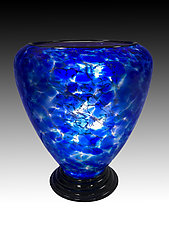 Blue Wave Lamp by Curt Brock (Art Glass Table Lamp)