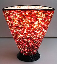 Blown Glass Lamp IV by Curt Brock (Art Glass Table Lamp)