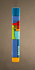 House Party Blue III by Vicky Kokolski and Meg Branzetti (Art Glass Wall Sculpture)