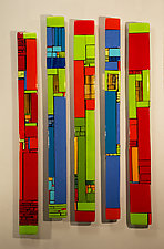House Party Large by Vicky Kokolski and Meg Branzetti (Art Glass Sculpture)