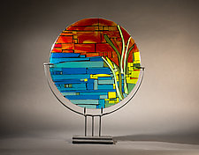 Sunset on the Water by Vicky Kokolski and Meg Branzetti (Art Glass Sculpture)