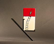 Mini Art Window Opens by Vicky Kokolski and Meg Branzetti (Art Glass Sculpture)
