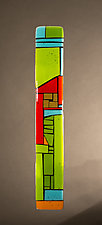 House Party Green VI by Vicky Kokolski and Meg Branzetti (Art Glass Wall Sculpture)