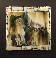 Reactions XIII by Vicky Kokolski and Meg Branzetti (Art Glass Wall Sculpture)
