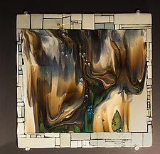 Reactions XI by Vicky Kokolski and Meg Branzetti (Art Glass Wall Sculpture)