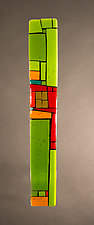 House Party Green III by Vicky Kokolski and Meg Branzetti (Art Glass Wall Sculpture)