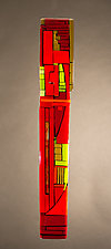 City Red by Vicky Kokolski and Meg Branzetti (Art Glass Wall Sculpture)
