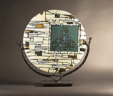 Portal III by Vicky Kokolski and Meg Branzetti (Art Glass Sculpture)