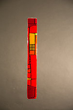 House Party Red V by Vicky Kokolski and Meg Branzetti (Art Glass Wall Sculpture)