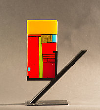 Lighter Side by Vicky Kokolski and Meg Branzetti (Art Glass Sculpture)