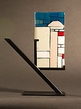 Mini Art: Jerusalem by Vicky Kokolski and Meg Branzetti (Art Glass Sculpture)
