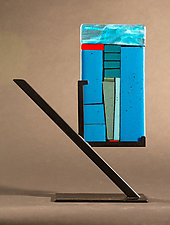 Mini Art: Drill II by Vicky Kokolski and Meg Branzetti (Art Glass Sculpture)