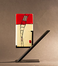A Window Opens by Vicky Kokolski and Meg Branzetti (Art Glass Sculpture)