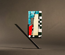 Mini Art Your Turn by Vicky Kokolski and Meg Branzetti (Art Glass Sculpture)