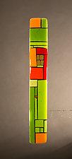 House Party Green XIII by Vicky Kokolski and Meg Branzetti (Art Glass Wall Sculpture)